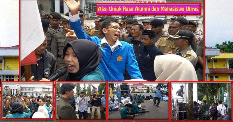 aksi demo damai Unras